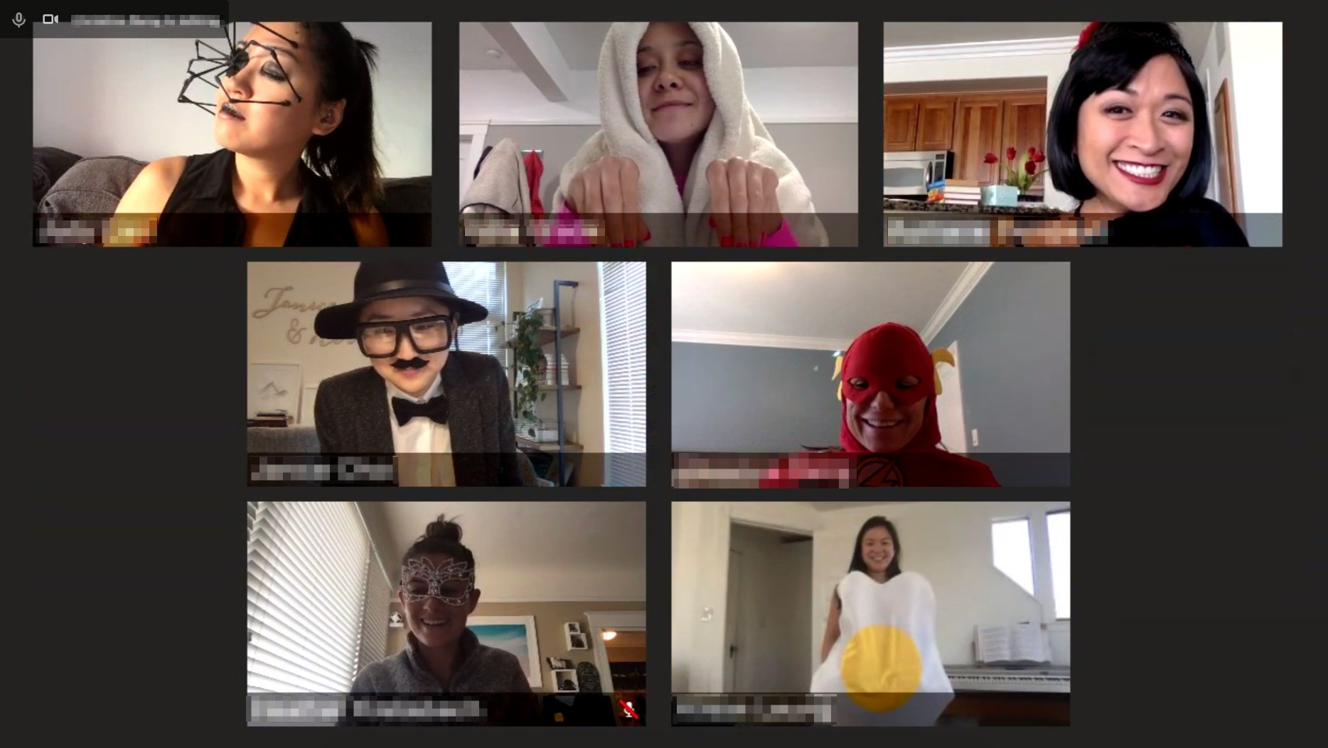 Working from home in costume on Halloween
