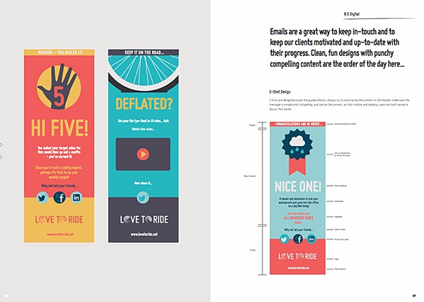 Infographic guidelines for Love to Ride
