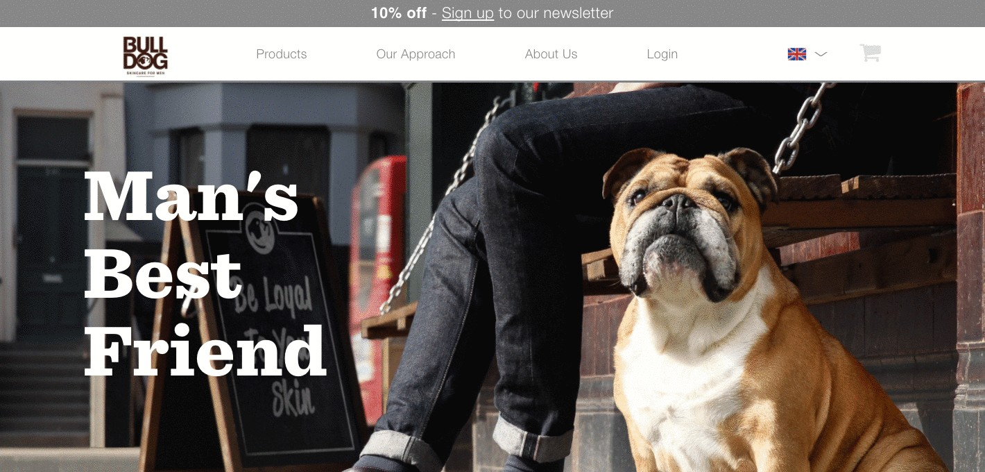 Bulldog Skin Care for Men about us page