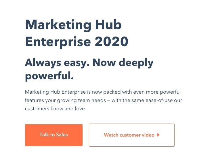 Marketing Hub Enterprise product page