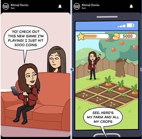 Personalized Bitmoji Story on Snapchat Discover