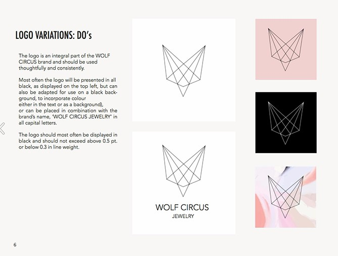 Logo variations for Wolf Circus Jewelry