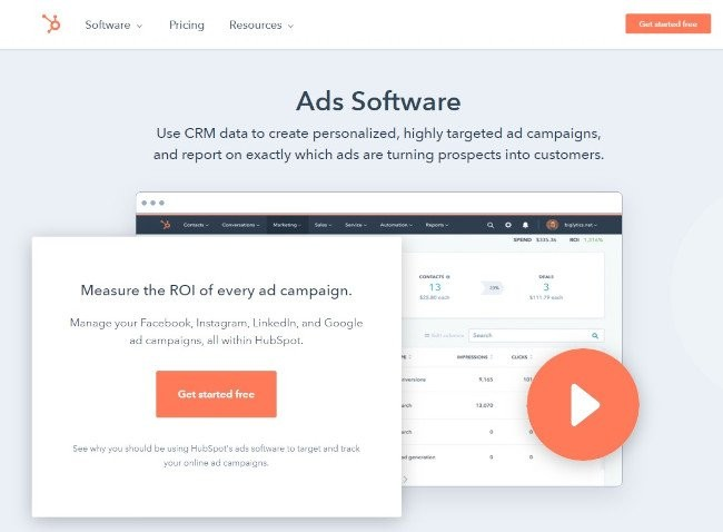 Product Release Feature Page for HubSpot Ads