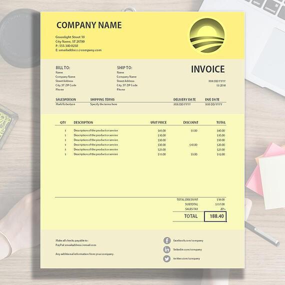Novomatic Invoice Sample