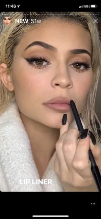 Kylie Jenner promotes KylieCosmetics on the brand's Instagram Stories