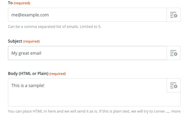 zapier zaps tool for email mailling lilst