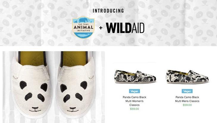 TOMS wild aid initiative