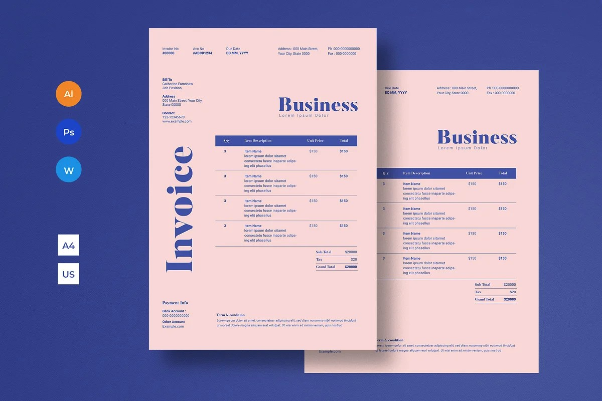 Invoice Template by Guuver
