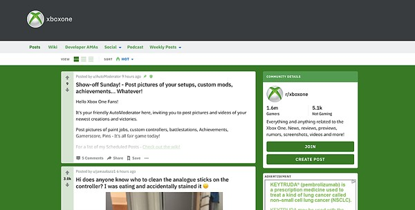 XboxOne Subreddit discussions on Reddit