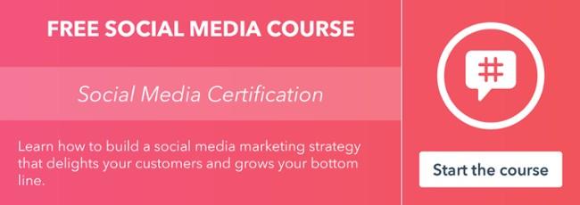 Get certified in social media by HubSpot Academy!