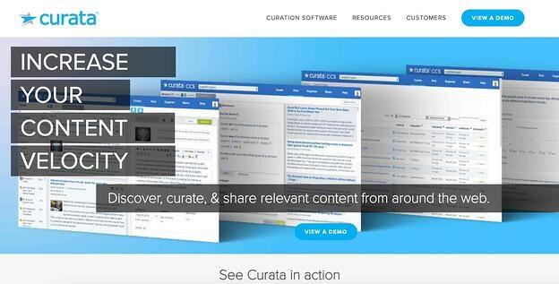 Content curation tool Curata