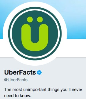 Funny Twitter bio from @UberFacts
