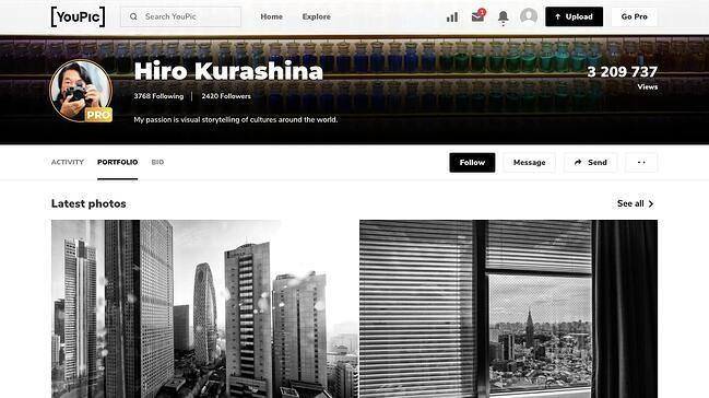 online portfolio: YouPic portfolio
