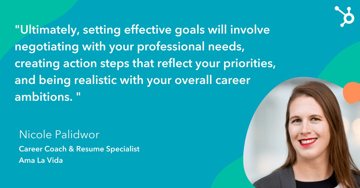 quote from career coach on importance of creating action steps for career goals