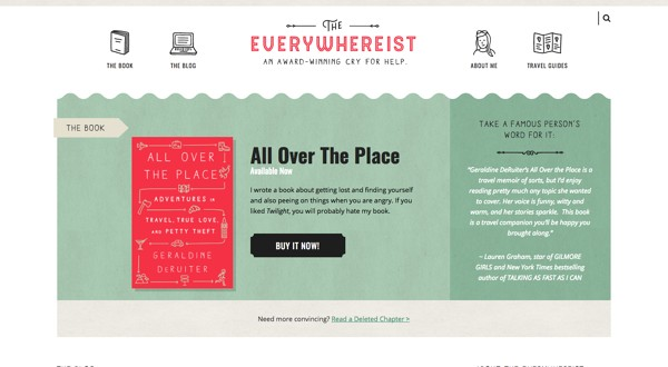 Personal Website Examples: The Everywhereist
