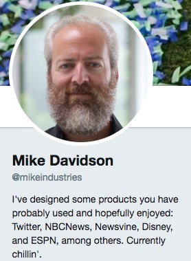 Funny Twitter bio from @MikeIndustries