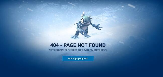 404 error page example from the website blizzard entertainment