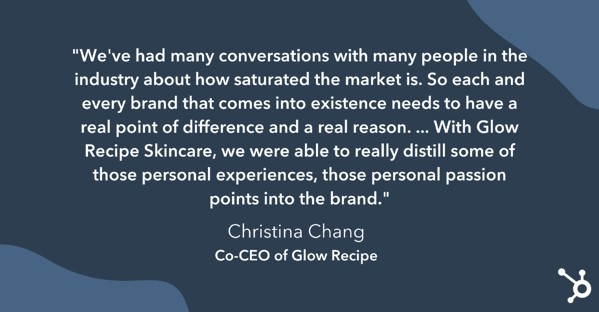 Christina Chang on the cosmetics industry's saturated market.