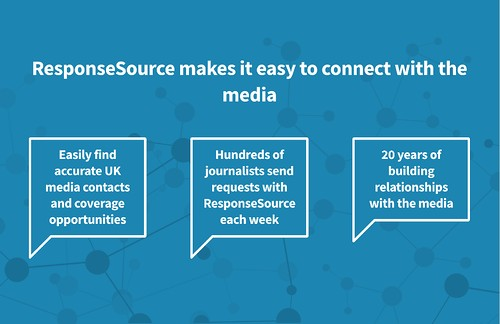 press release distribution service homepage by ResponseSource