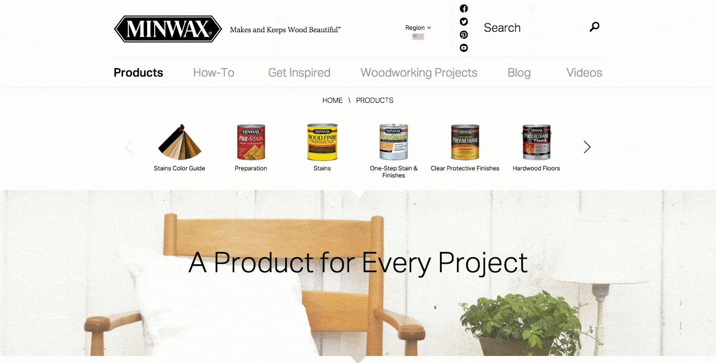 minmax product page design