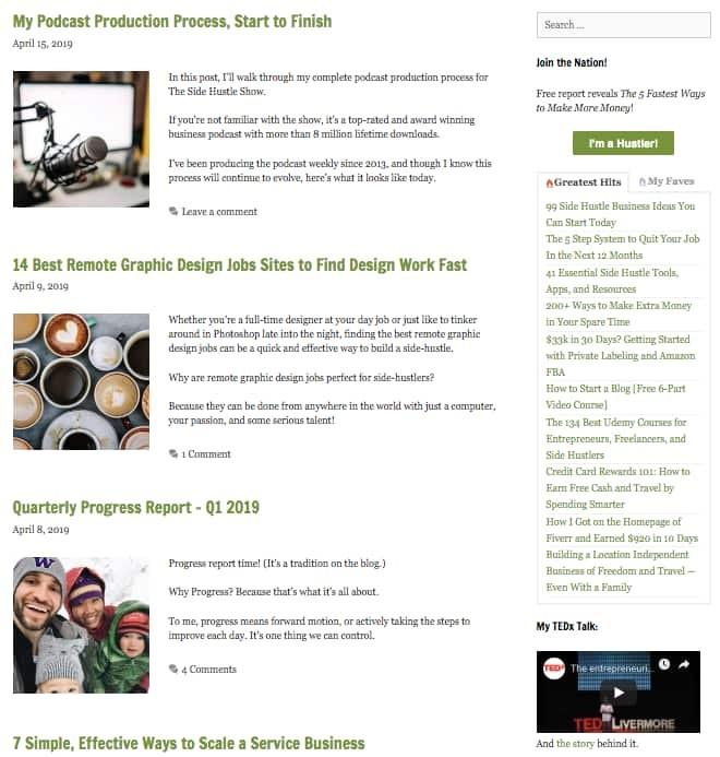 Side Hustle Nation Blog