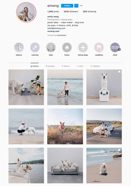 Minimalist Instagram Theme Example
