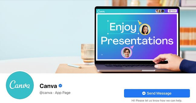 Facebook Page cover from Canva's FB Page