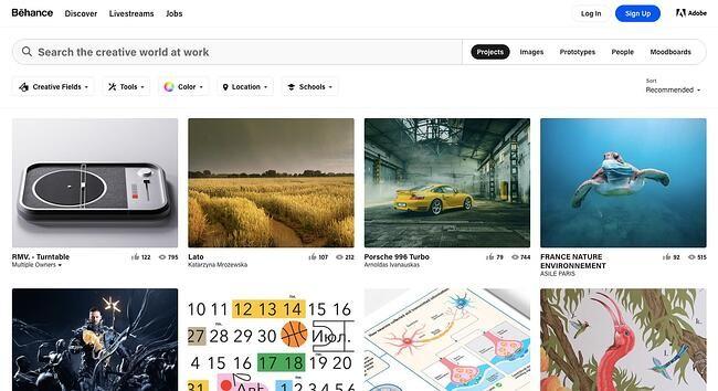 online portfolio: Behance portfolio