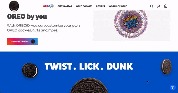 oreo product page design