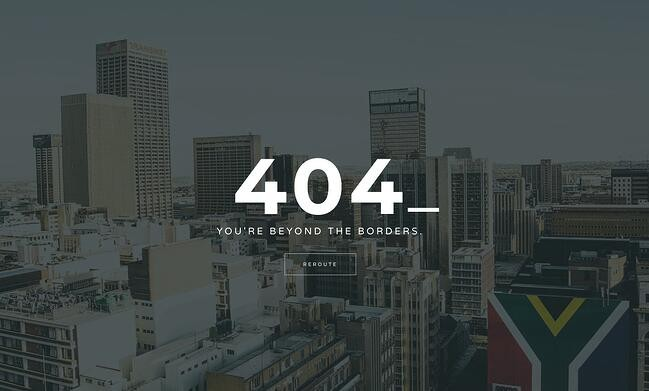 404 error page example from the website duma collective