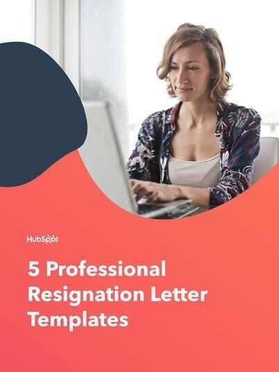 Free Professional Resignation Letter Templates