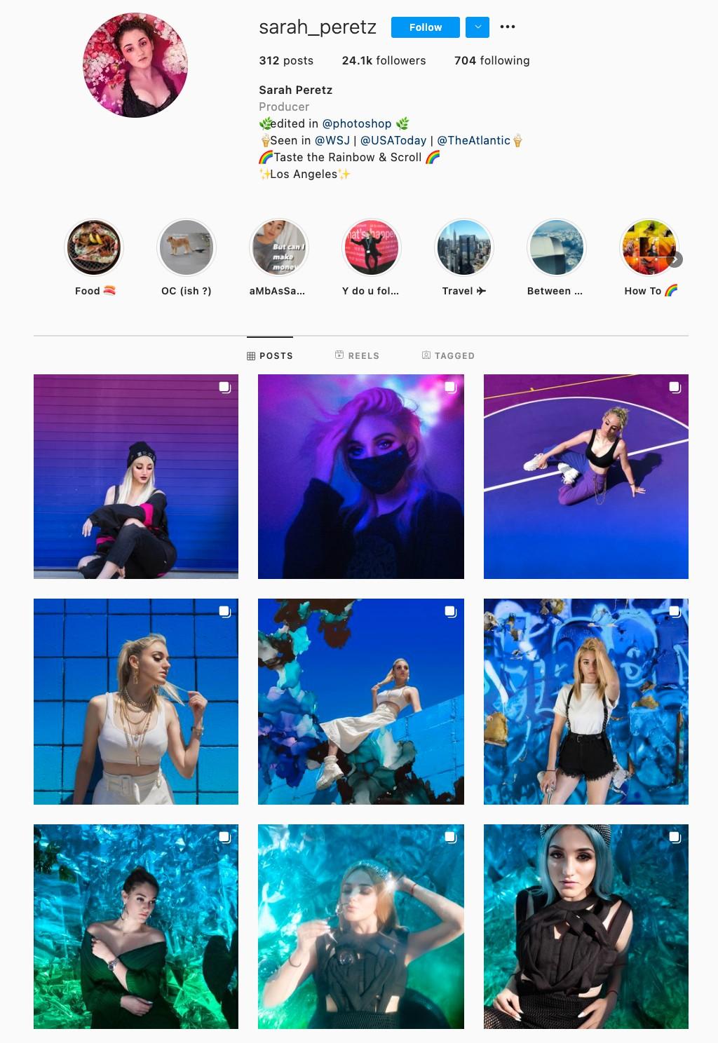 Rainbow Instagram Theme Example