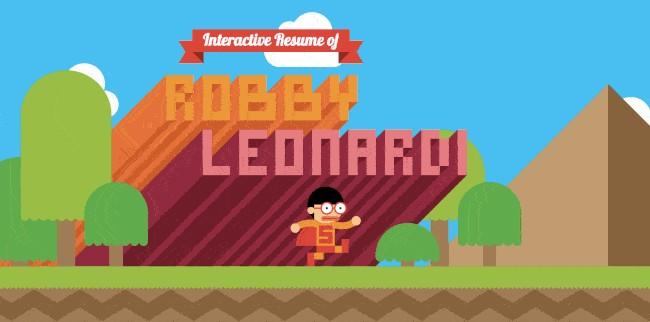 Personal Website Examples: Robby Leonardi