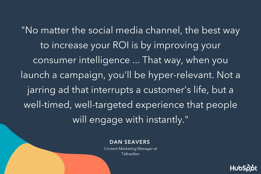 Dan Seaver's strategy for increasing ROI on his company's social channels