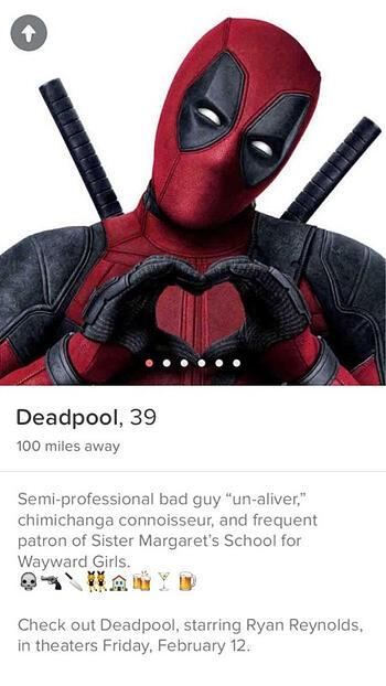 Guerilla Marketing Example: Deadpool's Tinder