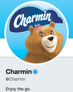 Funny Twitter bio from @Charmin