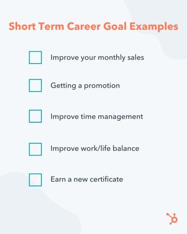examples of short term career goals