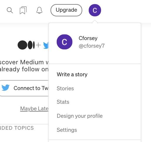 Writing a story on Medium
