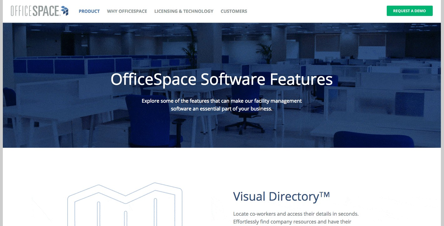 officespace product page design
