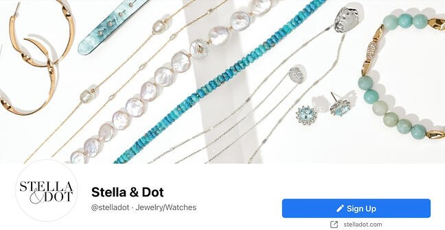 Facebook Page cover from Stella and Dot's FB Page