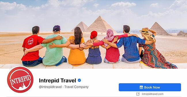 Facebook Page cover from Intrepid Travel's FB Page