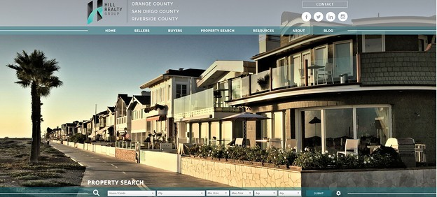 real estate landing pages: hill realty group