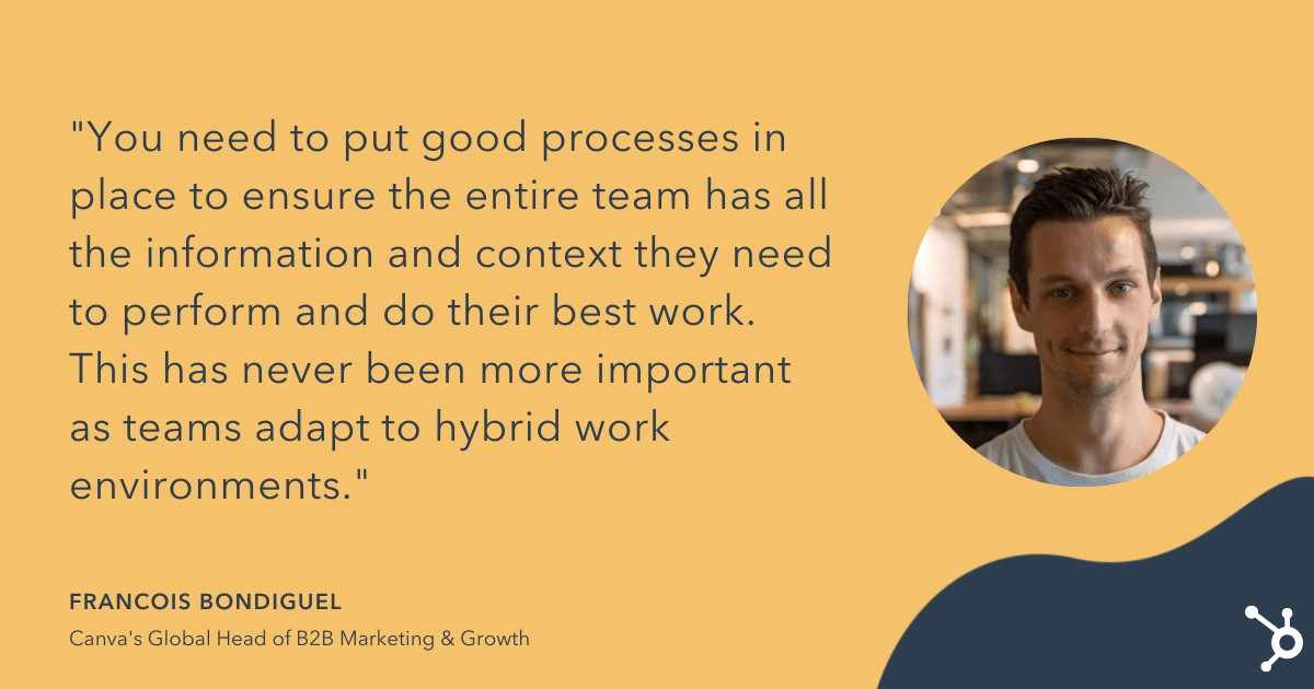 francois quote on scaling high-performing marketing teams