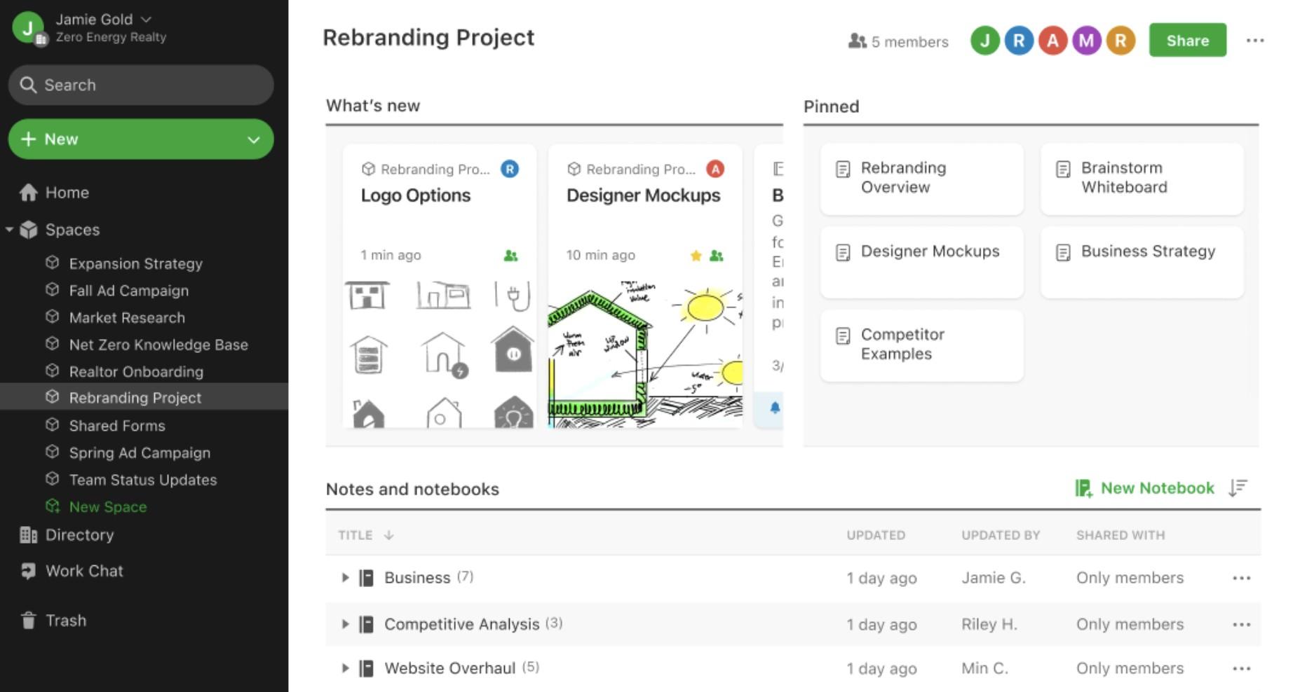 evernote teams marketing collaboration tool