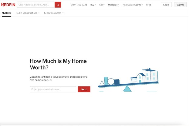 real estate landing pages: redfin