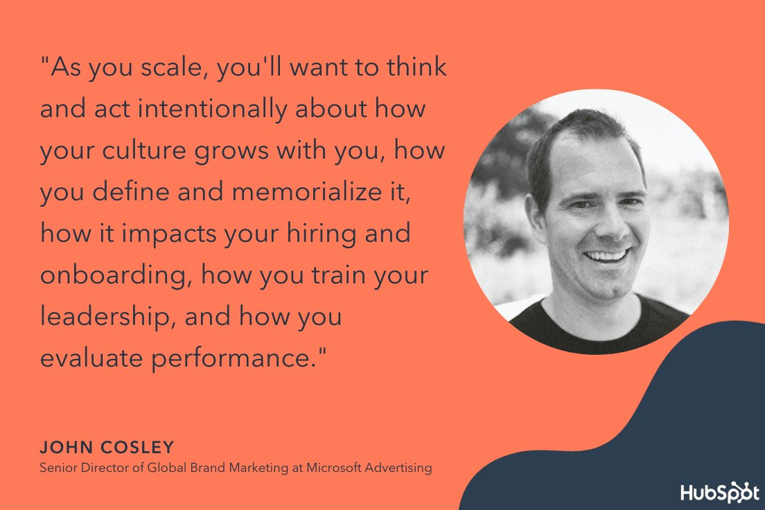 John Cosley quote on scaling businesses