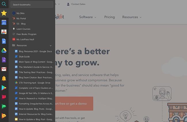 Sidebar Chrome extension