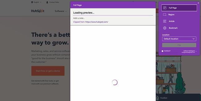 OneNote Web Clipper Chrome extension