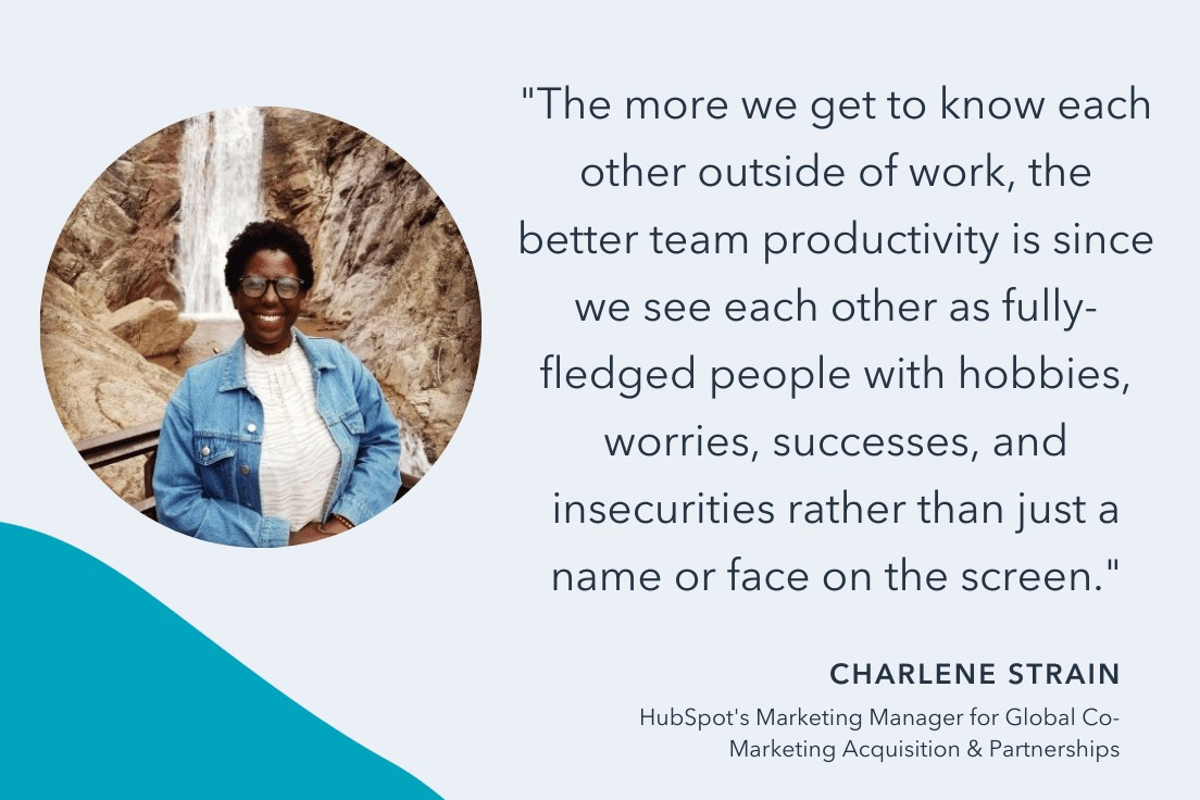 how to boost team productivity in 2022 according to hubspot manager Charlene Strain