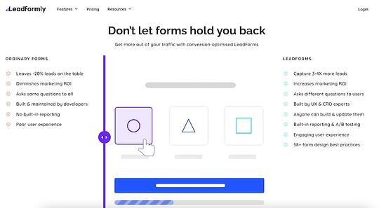 a/b testing tool - leadformly